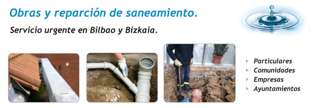 Obras y reparación de saneamiento