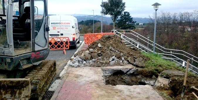 Reparación de la red de saneamiento en Bizkaia
