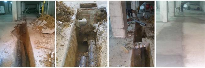 Rehabilitación de saneamientos en comunidad de propietarios de Barakaldo según dictamen ITE