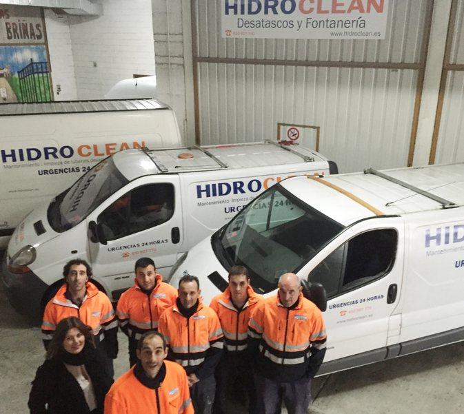 Plantilla de trabajadores de Hidroclean Bilbao