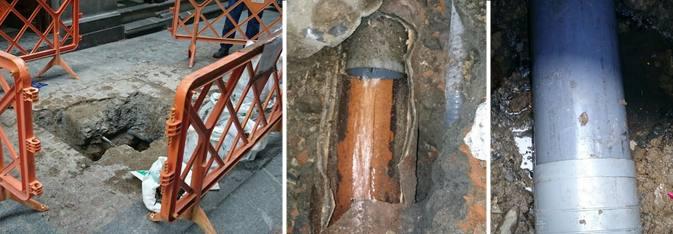 Reparación de tuberías en el Casco Viejo de Bilbao