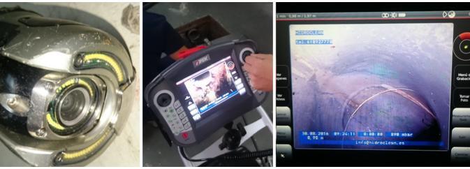 Inspección robotizada de tuberías con cámara TV,