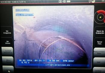 Inspección de tubería con cámara TV