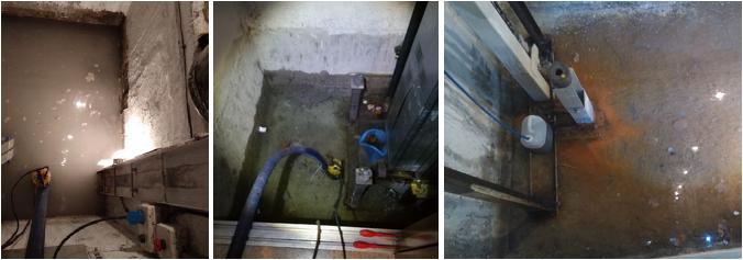 Achique de aguas en foso de ascensor en Bizkaia