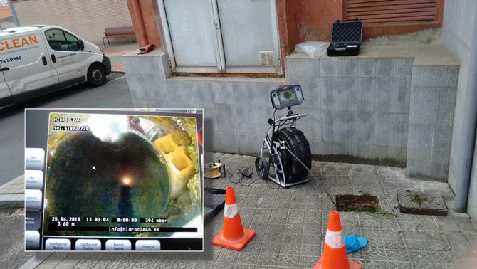 Inspección de tuberías con cámara TV en Arrigorriaga