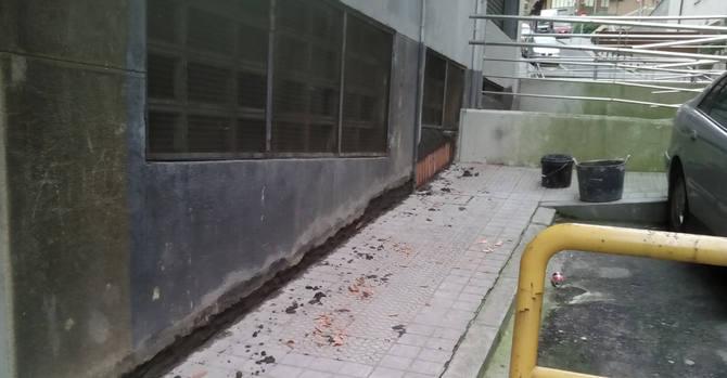 Filtraciones de agua por el exterior del garaje